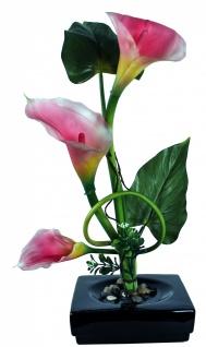 Kunstblume mit Untersetzer, Deko, Seidenblume, Blumen, künstliche Blume, Kunstpflanze B1001 - Vorschau