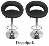 2 x Design Barhocker Bar Hocker Stuhl Barstuhl Tresen M4 Schwarz mit Lehne NEU