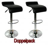 2 x Design Barhocker Bar Hocker Stuhl Barstuhl Tresen M6 Schwarz mit Lehne NEU