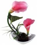 Kunstblume in Schale, Deko, Seidenblume, Blumen, künstliche Blume, Kunstpflanze B1006