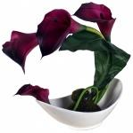 Kunstblume in Schale, Deko, Seidenblume, Blumen, künstliche Blume, Kunstpflanze B1004