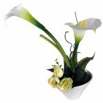 Kunstblume mit Vase, Deko, Seidenblume, Blumen, künstliche Blume, Kunstpflanze B1003