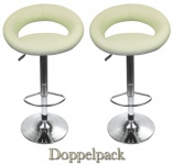 2 x Design Barhocker Bar Hocker Stuhl Barstuhl Tresen M4 Créme mit Lehne NEU