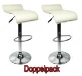 2 x Design Barhocker Bar Hocker Stuhl Barstuhl Tresen M6 Créme mit Lehne NEU