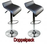 2 x Design Barhocker Bar Hocker Stuhl Barstuhl Tresen M6 braun mit Lehne NEU