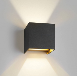 Light Point Box Mini Wandleuchte - schwarz / gold - Ausstellungsstück