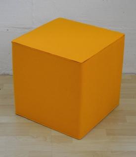Hey-Sign Quart Sitzwürfel (45x45x45cm)- orange - Lagerabverkauf