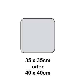 Hey-Sign quadratische Sitzauflage gerundete Ecken 2 x 3mm mit Schaumstofffüllung - Vorschau 3