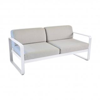 Fermob Bellevie 2-Sitzer Sofa mit flanellgrauem Kissen
