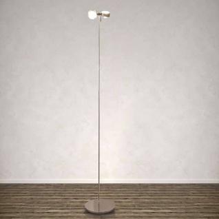 Top Light Puk Floor Maxi Twin Stehleuchte-chrom 2x Linse klar/ 2x Glas matt L...