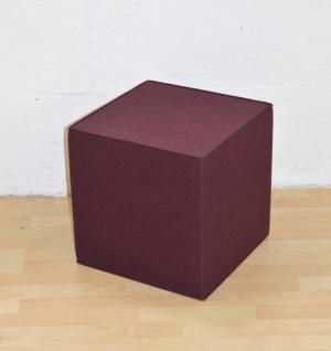Hey-Sign Quart Sitzwürfel (40x40x40cm)- aubergine - Lagerabverkauf