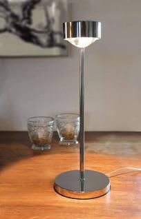 Top Light Puk Eye Table Tischleuchte- chrom, Glas matt, Halogen - Lagerabverkauf