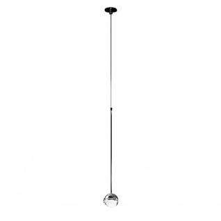 Cini & Nils Convivio New LED Pendelleuchte-chrom, transparente Linse - Lagera...