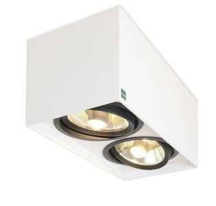 Mawa Design 111er Strahler eckig- LED, Gehäuse weiß matt (RAL 9016) / 2 Strah...