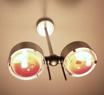 Top Light Puk Side Twin Wand-/ Deckenleuchte-nickelmatt-2 Linse matt-2 Glas-3...