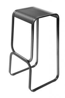 Lapalma Continuum h68 Barhocker - schwarz gebeizt / Gestell schwarz lackiert ...