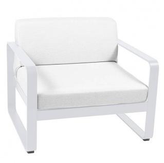 Fermob Bellevie Sessel mit grauweißem Kissen