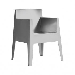 Driade Toy Stuhl mit Armlehne - Einzelstück / hellgrau - Ausstellungsstück