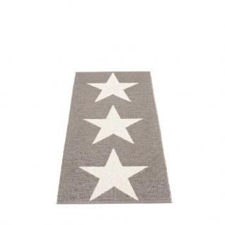 pappelina Viggo Star Outdoor-Teppich - schlammfarben metallic / vanille