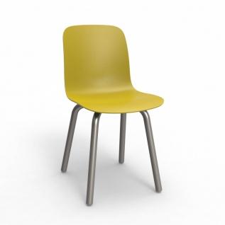 Magis Substance Stuhl- Gestell Alu eloxiert / Sitz senffarben - Lagerabverkauf