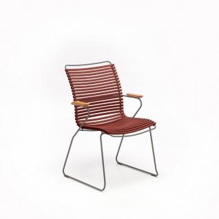 Houe Click Stuhl mit Armlehne - hohe Rückenlehne
