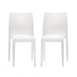 Kartell Ami Ami Stuhl-2er Set-weiß glänzend - Lagerabverkauf
