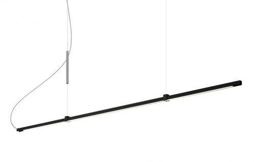 Lumen Center Italia Sibylla Pendelleuchte - schwarz / B 176cm - Ausstellungss...