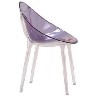 Kartell Mr. Impossible Schalensessel-violett transparent - Ausstellungsstück
