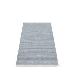 pappelina Mono Outdoor-Teppich - sturmblau / hellgrau