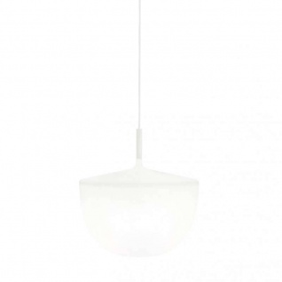 Fontana Arte Cheshire Pendelleuchte - Schirm opal / Struktur weiß / LED - Lag...