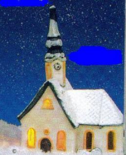 Lichtkirche KIRCHERL KAPELLE in BAYERN mit Schnee