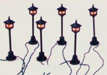 STRASSEN LATERNE 6er Lichterkette GARDEN für Lichte