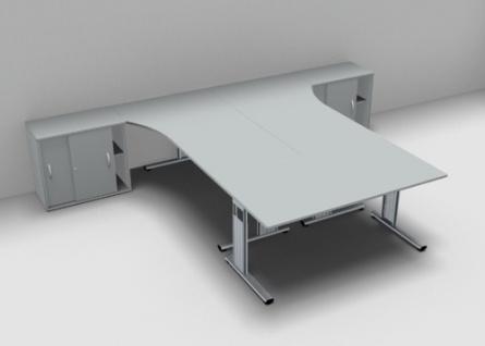 Schreibtisch-Arbeitsplatz GA1 für 3 Personen - Vorschau 4