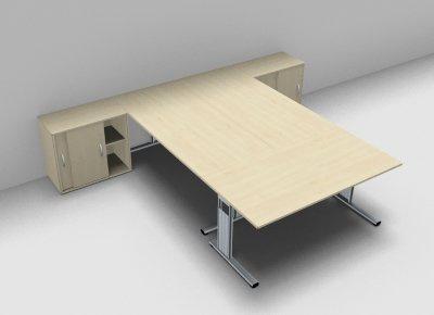 Schreibtisch-Arbeitsplatz G3S für 3 Personen