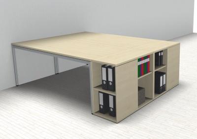Doppelarbeitsplatz GD22 Schreibtische mit Anstellregal