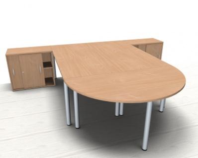 Doppelarbeitsplatz GVA Schreibtischkombination