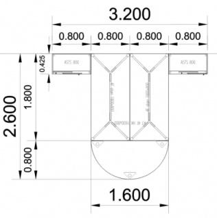 Doppelarbeitsplatz GVA Schreibtischkombination - Vorschau 4
