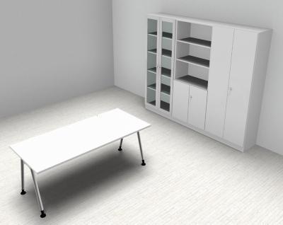 Komplettbüro A2 Büromöbel Schreibtisch Aktenschrank