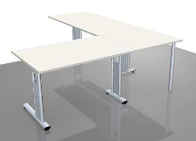 Schreibtischkombination GS18 Winkelschreibtisch Schreibtische mit Verkettung - Vorschau 4