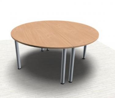 Konferenztisch Mega rund 160 cm Meetingtisch Besprechungstisch - Vorschau 3
