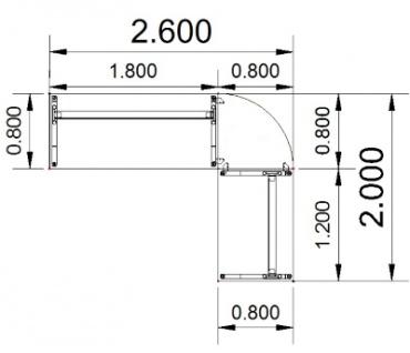 Schreibtischkombination Z6 - Vorschau 4