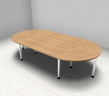 Konferenztisch Köln gerundet 320 x 160 cm Meetingtisch - Vorschau 4