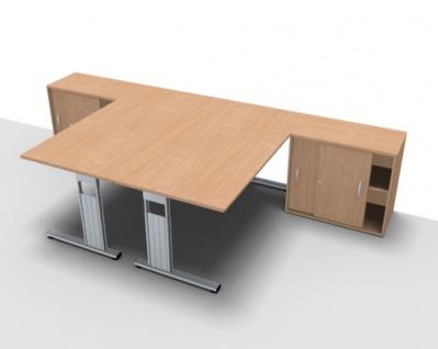 Doppelarbeitsplatz GD16 Schreibtischkombination - Vorschau 3
