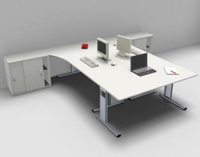 Schreibtisch-Arbeitsplatz GA1 für 3 Personen