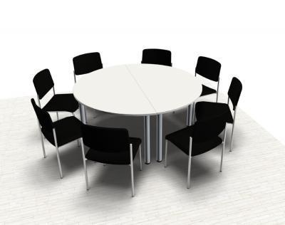 Konferenztisch Mega rund 160 cm Meetingtisch Besprechungstisch