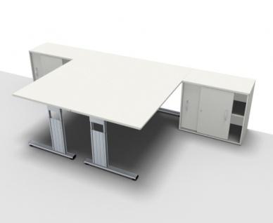 Doppelarbeitsplatz GD16 Schreibtischkombination