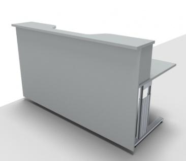 Empfangstheke Solid 180 cm mit Monitorausschnit Bürotresen - Vorschau 2