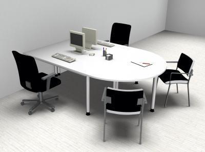 Doppelarbeitsplatz H2 Schreibtische mit Ansatz