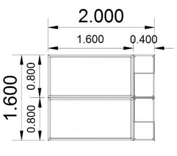 Doppelarbeitsplatz DH2 mit Anstellcontainern - Vorschau 3