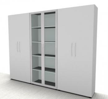Büro Schrankwand Basis1 Aktenschränke 5 Ordnerhöhen - Vorschau 4
